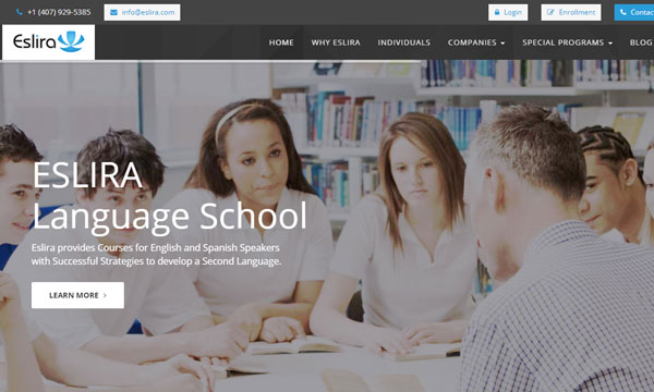 Eslira Language School Website